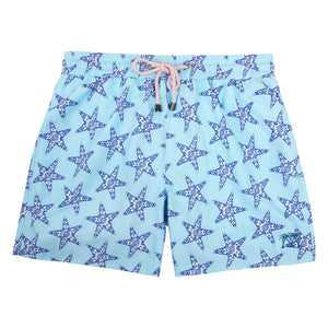 Mens swim trunks : SEASTAR - NAVY/TURQUOISE