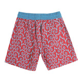 Mens Trunks Fern (Red/Blue) Back