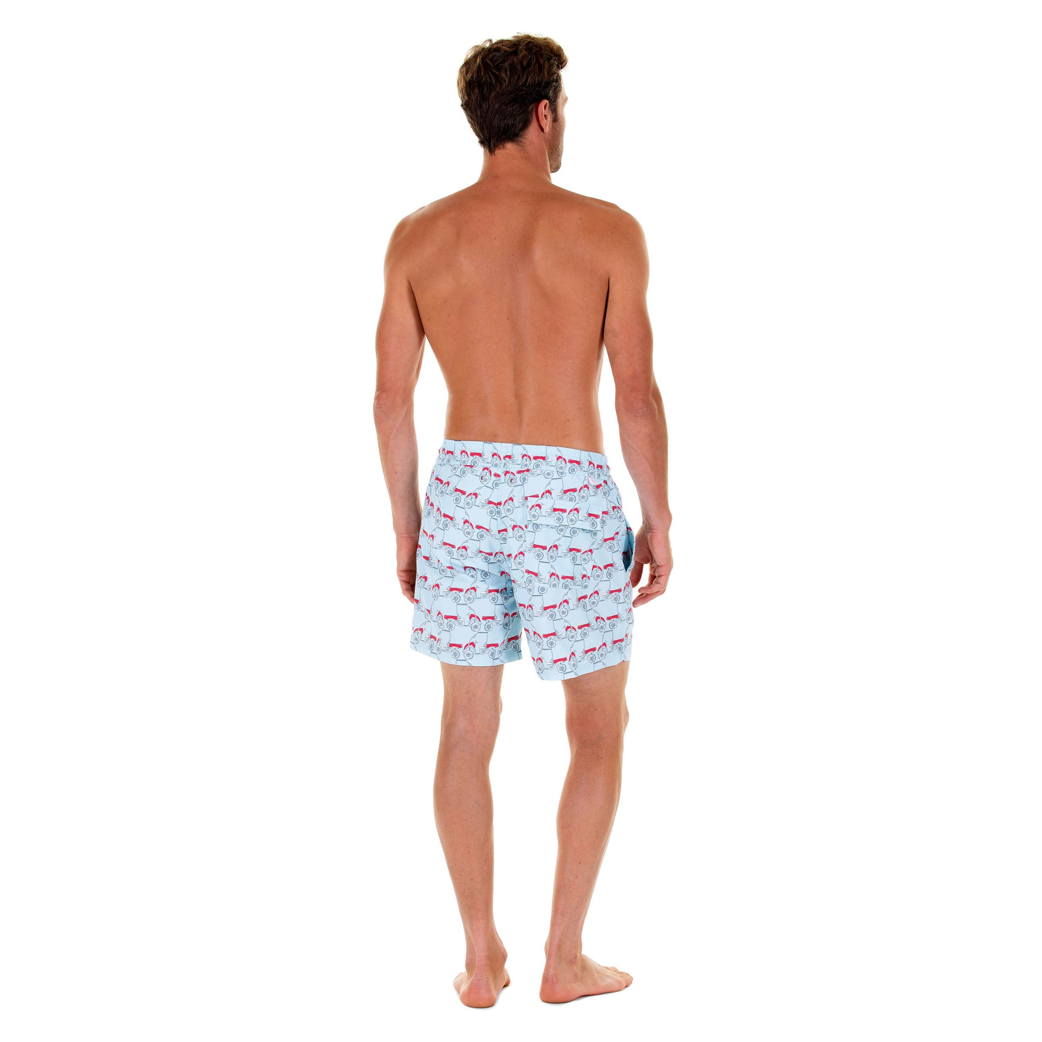a9b49f9ef1d8 Mens swim trunks : MUSTIQUE MULE - RED back. Comfortable, practical &  stylish