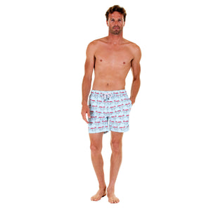Mens swim trunks : MUSTIQUE MULE - RED comfortable, practical & stylish