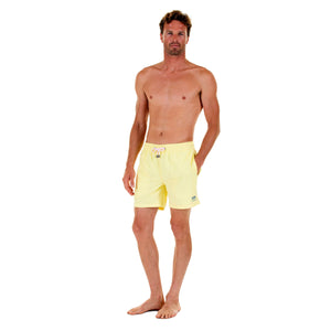Mens swim trunks : YELLOW, front