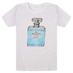 Pink House Mustique T-shirt: MACARONI NO.5 front