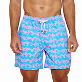 Mens Trunks (Grackle Blue/Pink) Front