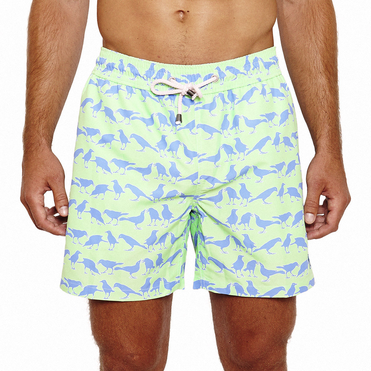Mens Trunks (Grackle Green) Front