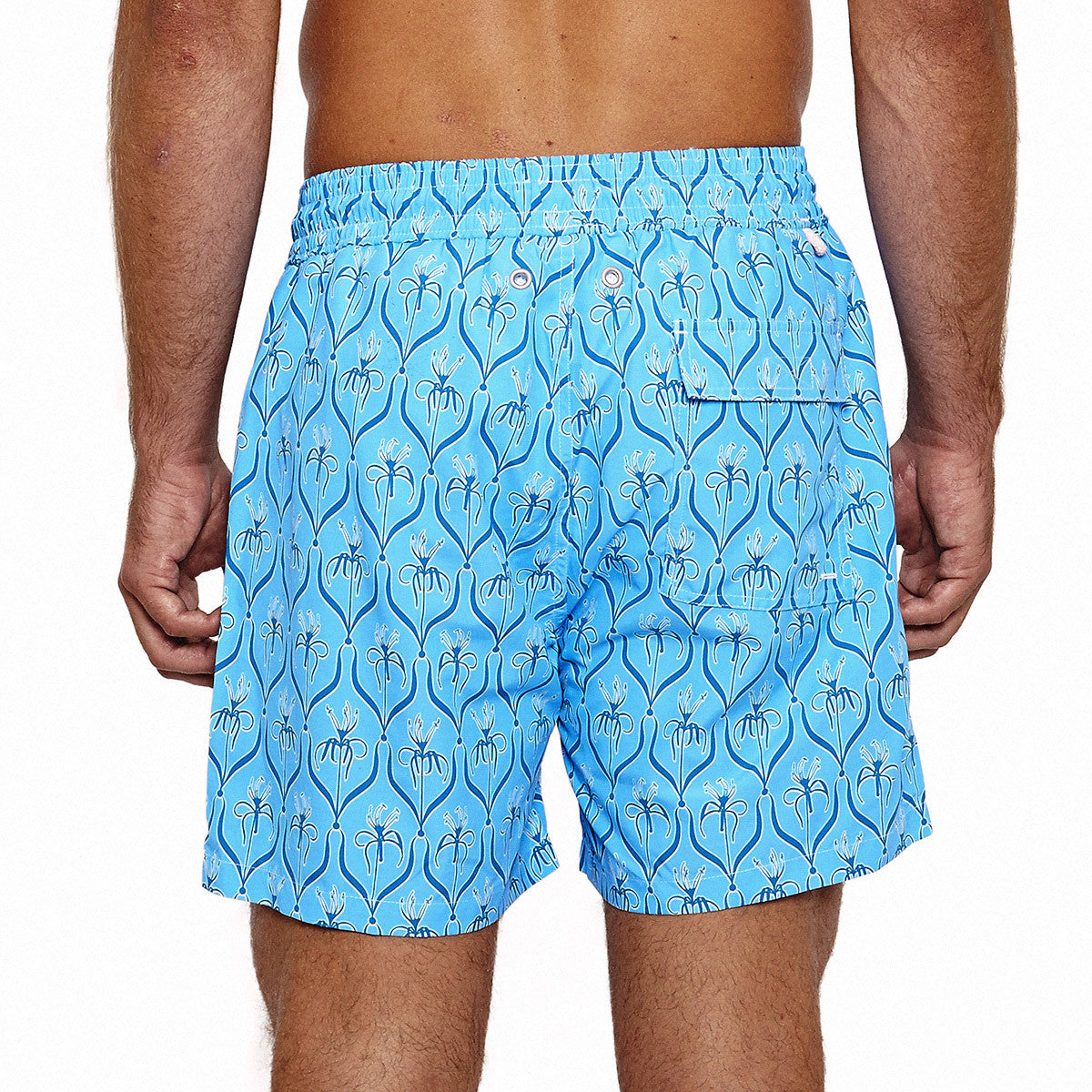 Mens Trunks (Spiderlily Blue) Back