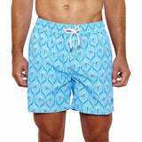 Mens Trunks (Spiderlily Blue) Front