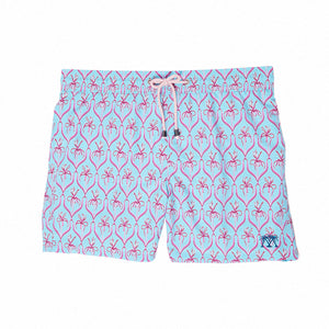 Mens Trunks (Spiderlily Turquoise/Pink)