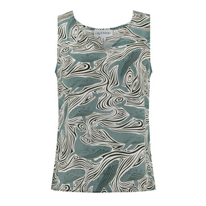 Bed-to-Beach Top: WHALE - MONOCHROME