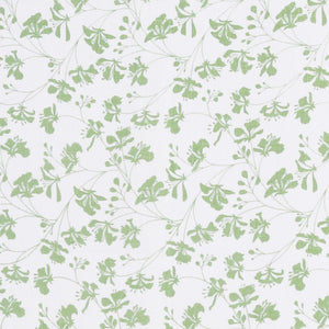FLAMBOYANT - GREEN fabric swatch, designer Lotty B Mustique