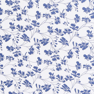 FLAMBOYANT - NAVY BLUE fabric swatch, designer Lotty B Mustique