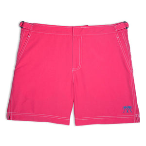 Mens Beach Shorts (Faded Red)