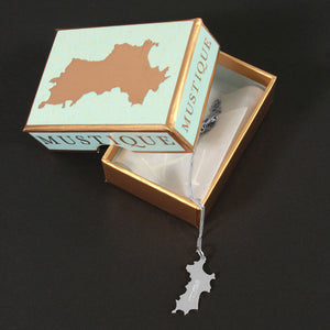 MINI Sterling Silver Mustique Island Pendant - Lotty B gift box