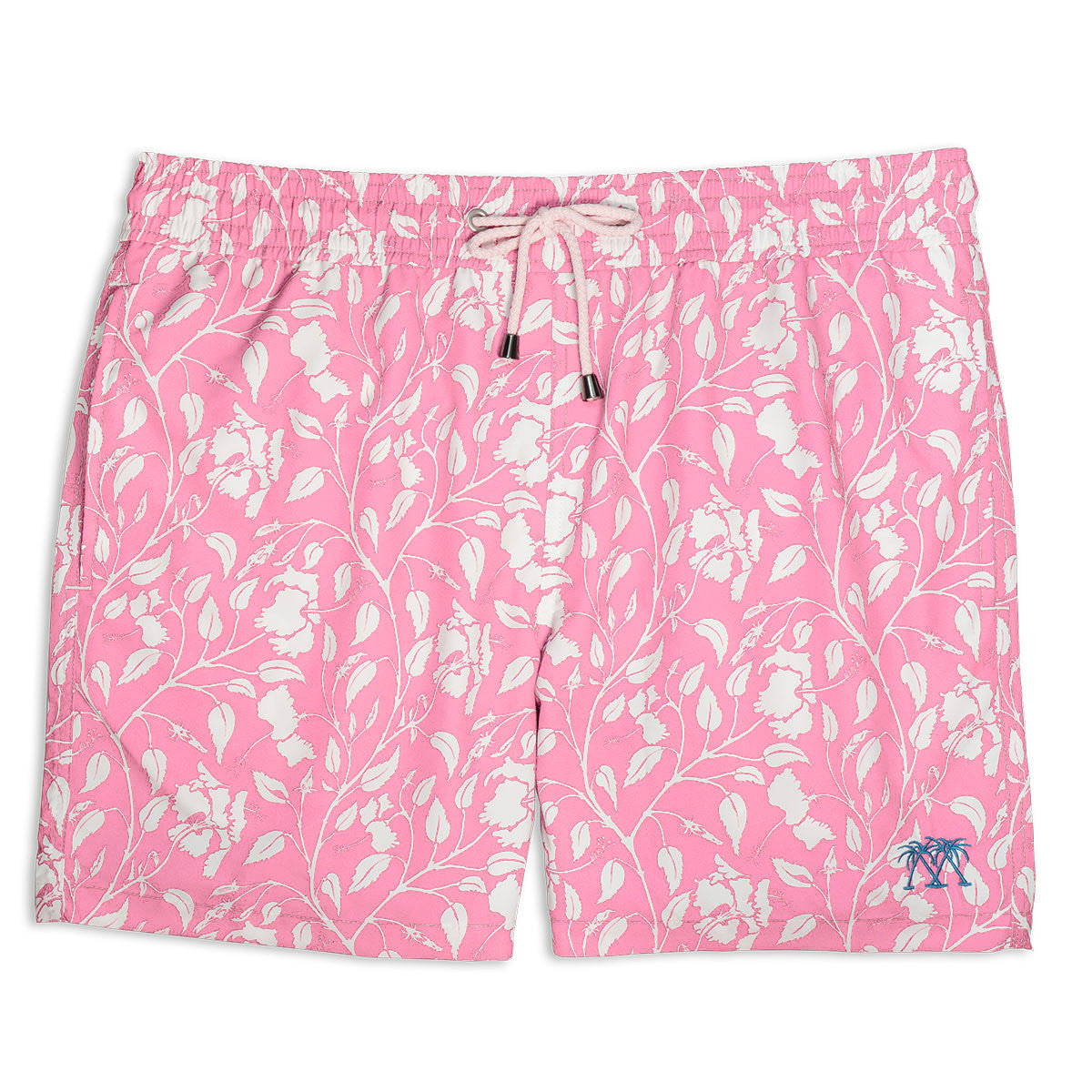Mens Trunks (Hibiscus, Pink)
