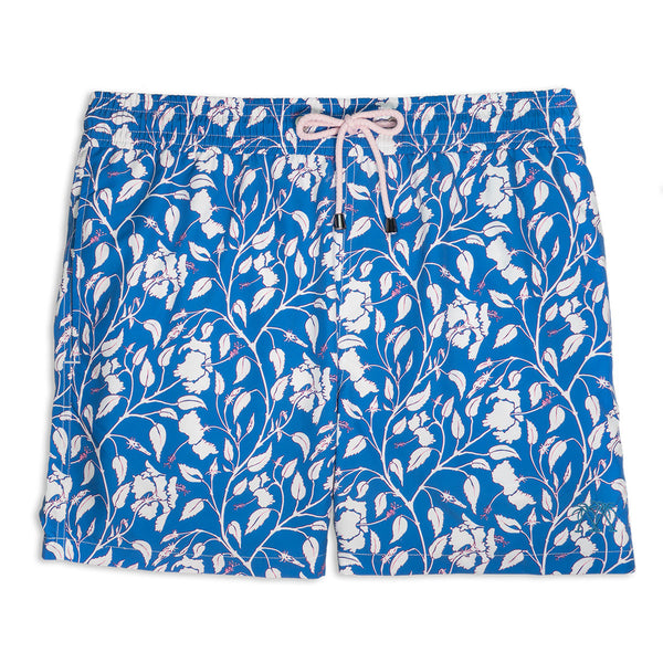 Mens Trunks (Hibiscus, Navy)