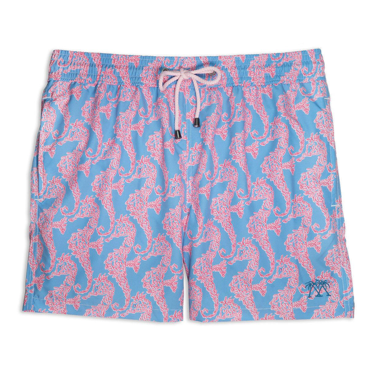 Mens Trunks (Seahorse, Blue/Pink)