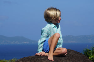 Kids designer shirts by Lotty B Mustique childrens holiday style