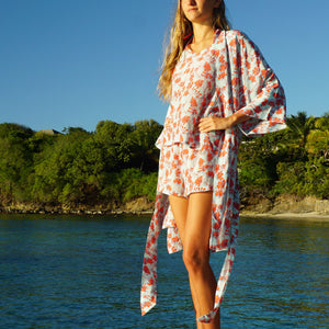 pure silk bed to beach nightwear designer Lotty B Mustique luxury vacation fashion