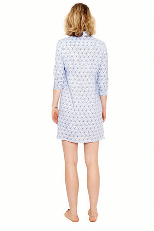 Womens Shirt Dress (Sand Dollar Blue) Back