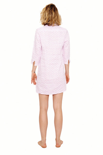 Womens Shirt Dress (Spiderlily Pink) Back