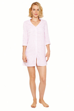 Womens Shirt Dress (Spiderlily Pink) Front