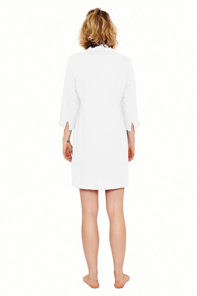 Womens Shirt Dress (White) Back