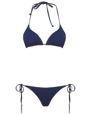 Womens Triangle Bikini : NAVY