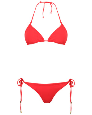 Womens Triangle Bikini : RED