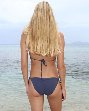 Womens Triangle Bikini : STEEL GREY back