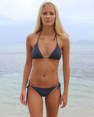 Womens Triangle Bikini : STEEL GREY front