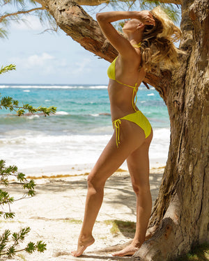 Womens Triangle Bikini : YELLOW Mustique style Caribbean island collection