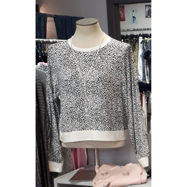 MINI LEOPARD LONG SLEEVE PULLOVER SWEATER - Z Supply