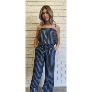 Blue Striped Plazo Pants