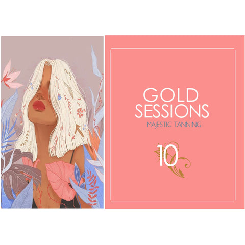 10 Gold Tanning Sessions - Karmas Boutique YEG