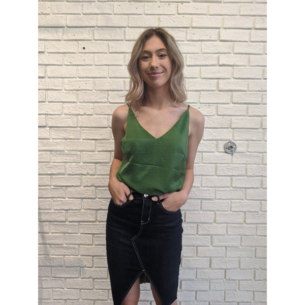 Forest Green Tank - Karmas Boutique YEG