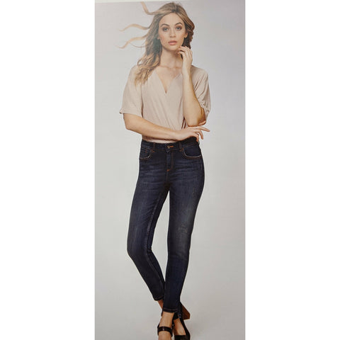 Lexi Mid Rise Distressed Jeans - Karmas Boutique YEG
