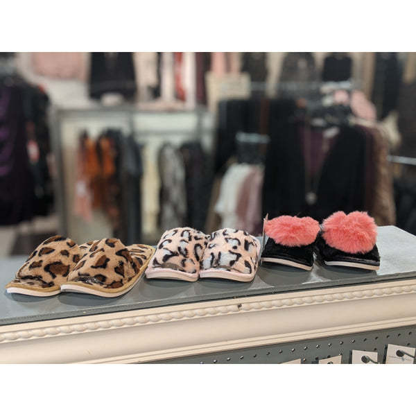 Tan Leopard Slipper Slides - Karmas Boutique YEG