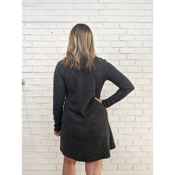 Heather Black Sweater Dress