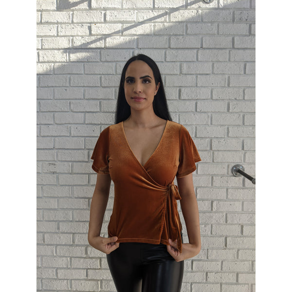 Toffee Wrap Top