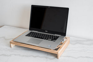 Wooden lap top stand Lap top Tray lap top table laptop holder - EWART WOODS