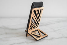 Load image into Gallery viewer, Wooden phone stand