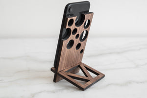 Wooden phone stand smartphone stand wood phone stand phone holder personalized - EWART WOODS