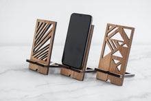 Load image into Gallery viewer, Wooden phone stand smartphone stand wood phone stand phone holder personalized - EWART WOODS