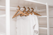 Load image into Gallery viewer, Wood clothes hangers wedding hanger bridesmaid hanger wedding dress hanger clothes rack wooden rack adult clothing rack set of 4 - EWART WOODS