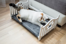 Load image into Gallery viewer, Wooden Cat Bed Cat hammock Ergonomic cat bed  pet hammock wooden pet bed modern pet bed dog bed minimalist indoor hexagon Cat gifts - EWART WOODS