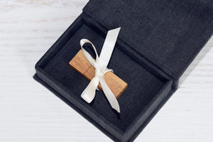 Linen fabric USB Box (without usb ) Print & USB Flash Drive Box personalize flash drive photo box gift wedding box Proof Box for photography - EWART WOODS