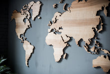 Load image into Gallery viewer, Wall Map of the World Map Wood Wall Art Large Wall Decal Wood Map Wall Decor Travel Map - EWART WOODS