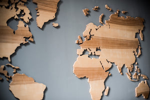Wall Map of the World Map Wood Wall Art Large Wall Decal Wood Map Wall Decor Travel Map - EWART WOODS
