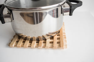 Wooden cookery heat coaster