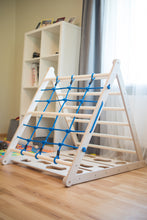 Load image into Gallery viewer, Triangle play equipment for Kids 3in1 Learning Play (Blue) - EWART WOODS Design