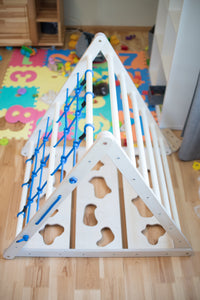 Triangle play equipment for Kids 3in1 Learning Play (Blue) - EWART WOODS Design